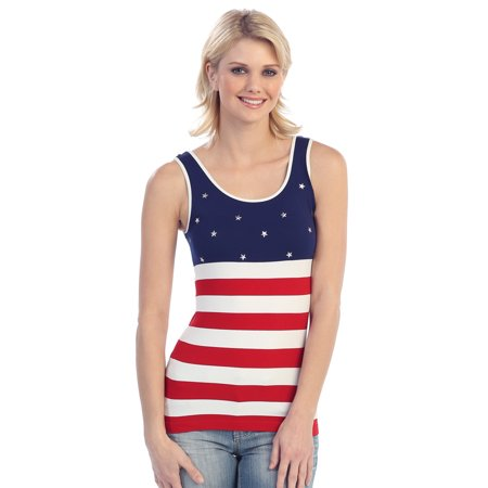 July 4th Patriotic American Flag Tank Top One Size - Walmart.com