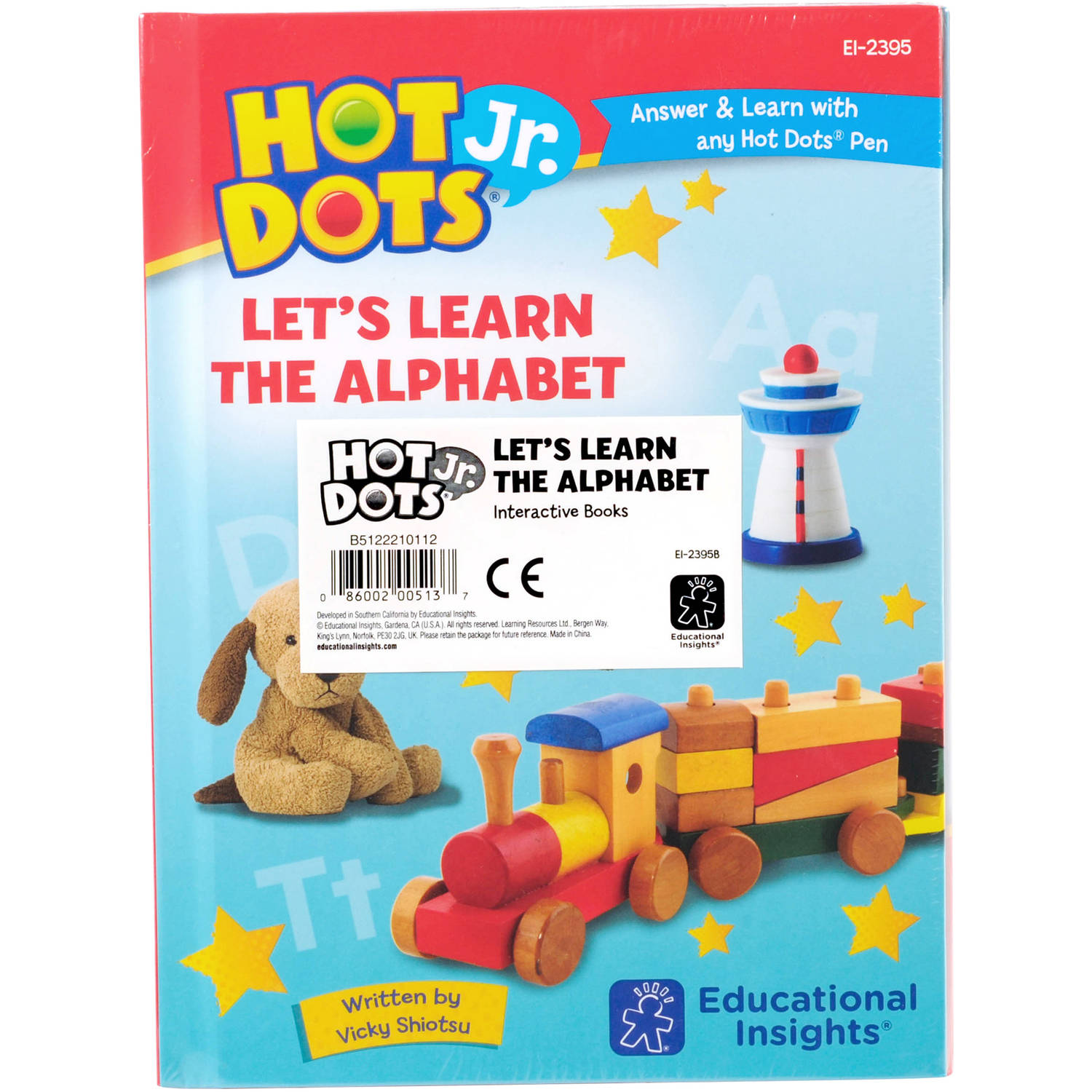 Educational Insights Hot Dots Jr. Let's Learn the Alphabet Interactive Books, Classroom Set of 5 Books