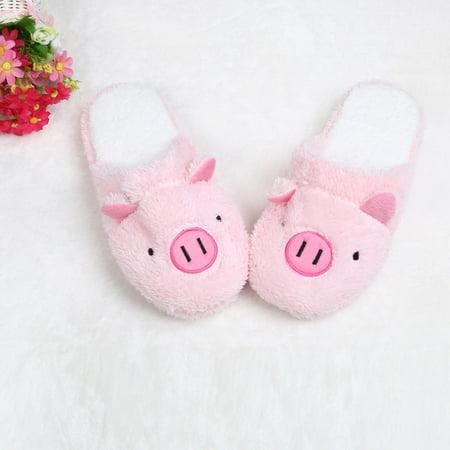 Lovely Pig Home Floor Soft Stripe Slippers Female Shoes PK 36
