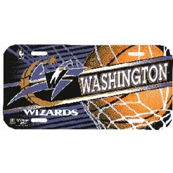 Washington Wizards Plastic NBA License Plate