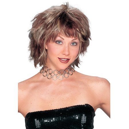 Choppy Layered Wig Adult Halloween Accessory](Waynes World Wigs)