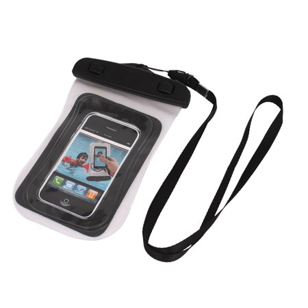 timeless design 024bc 7a540 Waterproof Bag Case Holder Protector Clear w Neck Strap for 4.5 Cell Phone