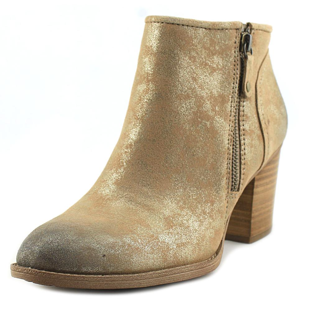 Sofft Wesley Women Round Toe Leather Tan Bootie by Sofft