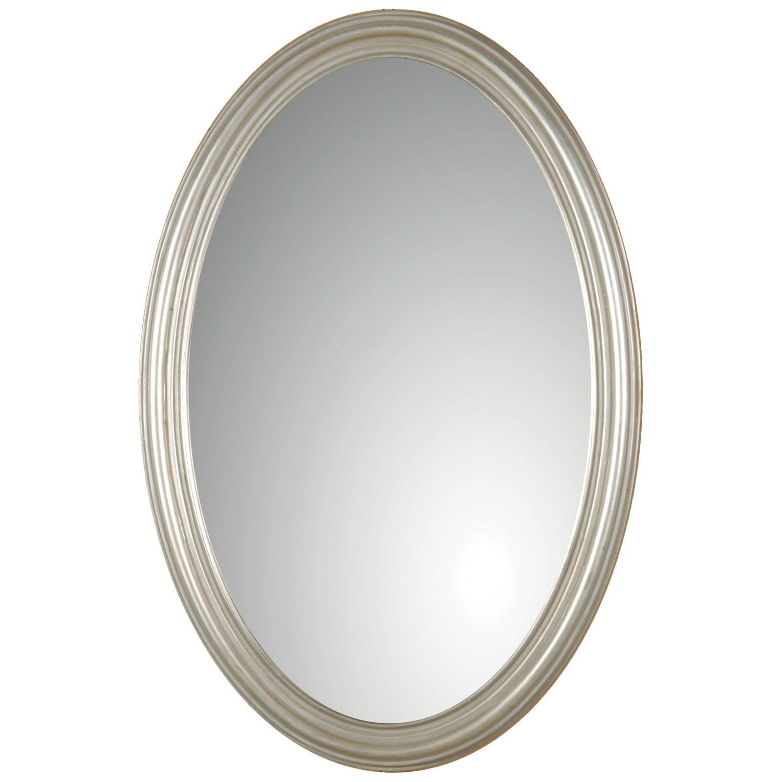 Uttermost Franklin Oval Silver Wall Mirror - 21W x 32H in. - Walmart.com