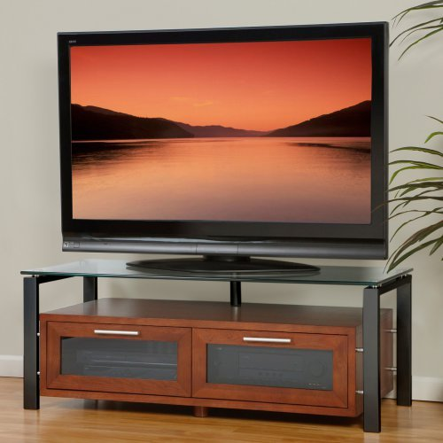 Plateau Decor 50 Inch TV Stand in Walnut with Black Frame