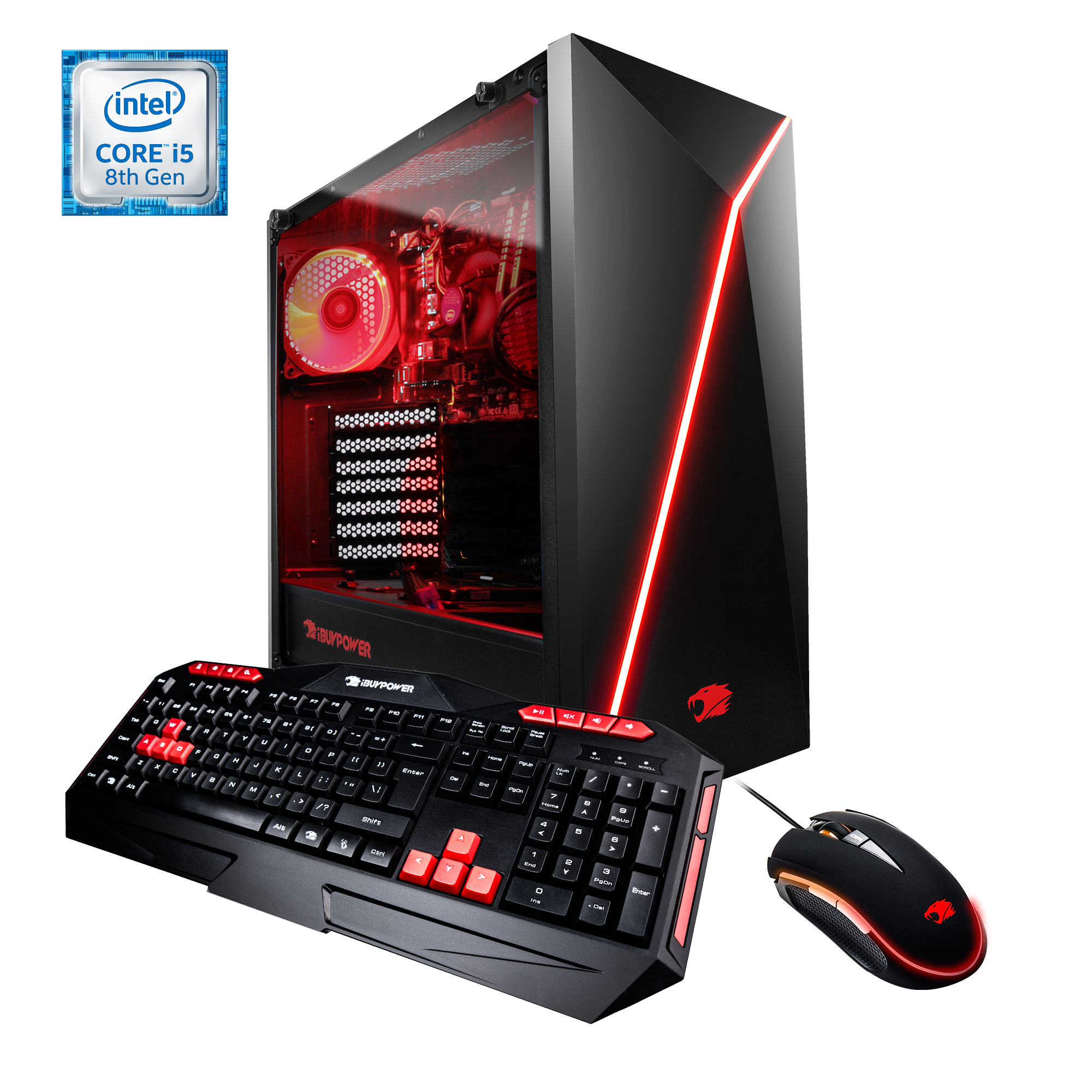 iBUYPOWER WA8430i - Gaming Desktop PC - Intel i7 8700- 16GB DDR4 Memory - NVIDIA GeForce GTX1070 8GB - 2TB Hard Drive – 120GB SSD - Window 10 Home 64bit(Monitor Not Included)