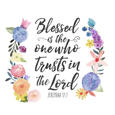Floral Bible Verse I Poster Print by Noonday Design - Bible Posters