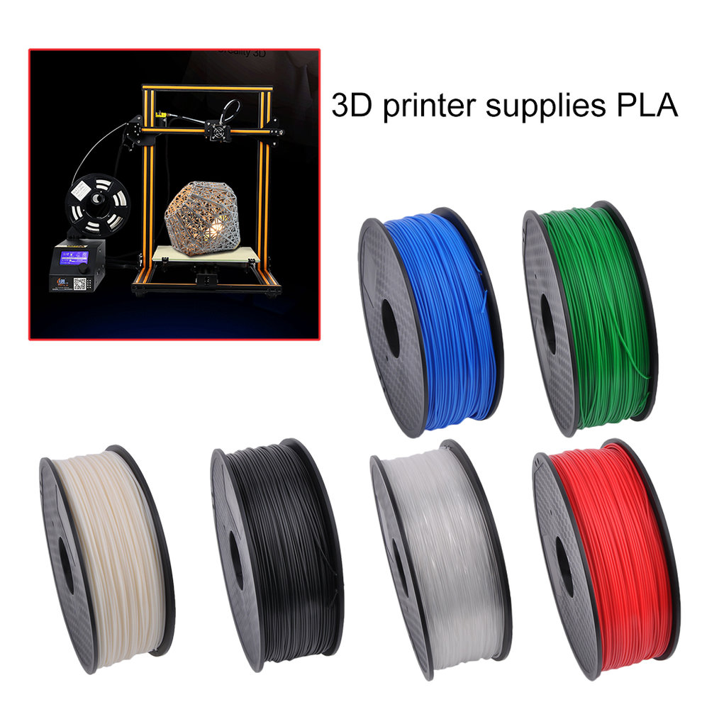 1.75MM 3D Printer Filament 3D Printing Filament Environmental Friendly Consumable PLA Materials 3D Printer Filament For 3D Printer 1KG for a Variety of 3D Printer(Blue)