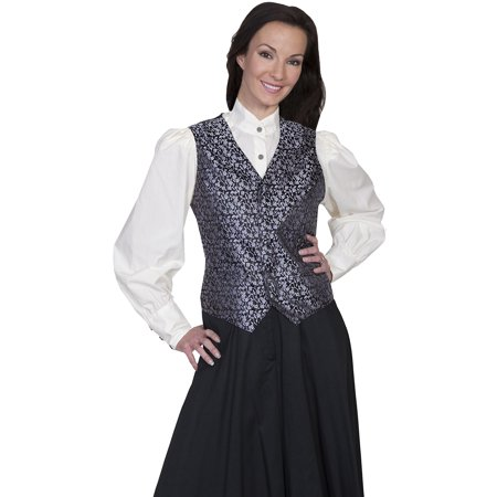 91e172333f0b Scully Old West Vest Womens Formal Rose Vine Button Polyester RW590 ...