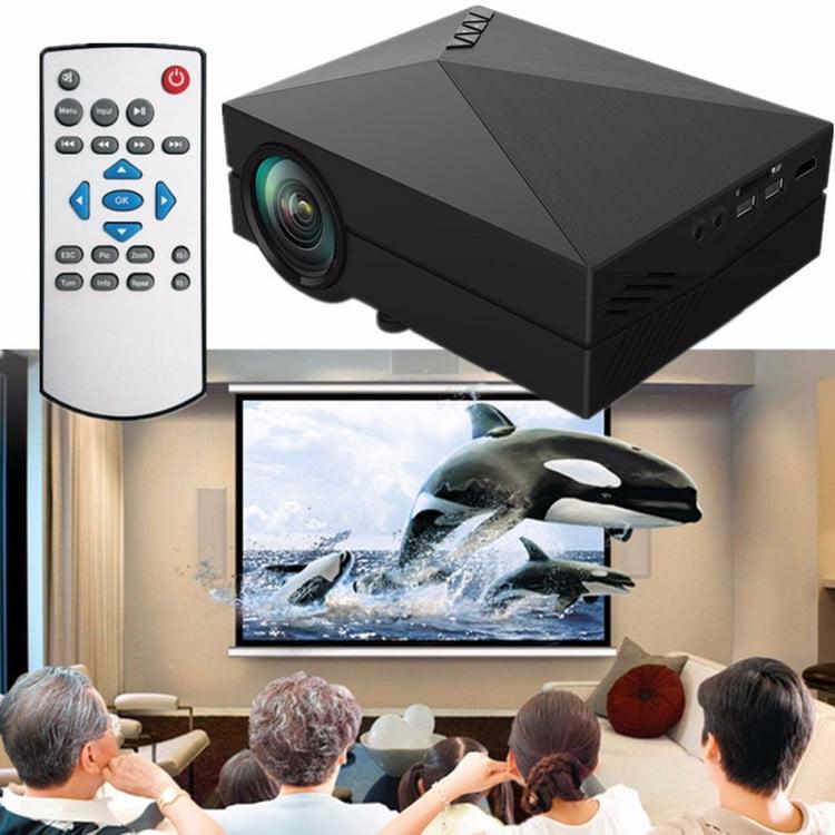 1000 Lumens Full HD 1080P Portable Mini Projector LCD LED Projector Home Theater, AV/HDMI/VGA