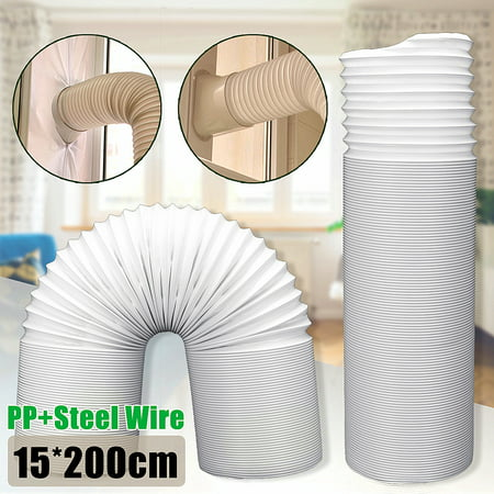 79 Inch White Portable Mobile Air Conditioners Flexible Exhaust Hose Tube Universal Window Vent Hose 6