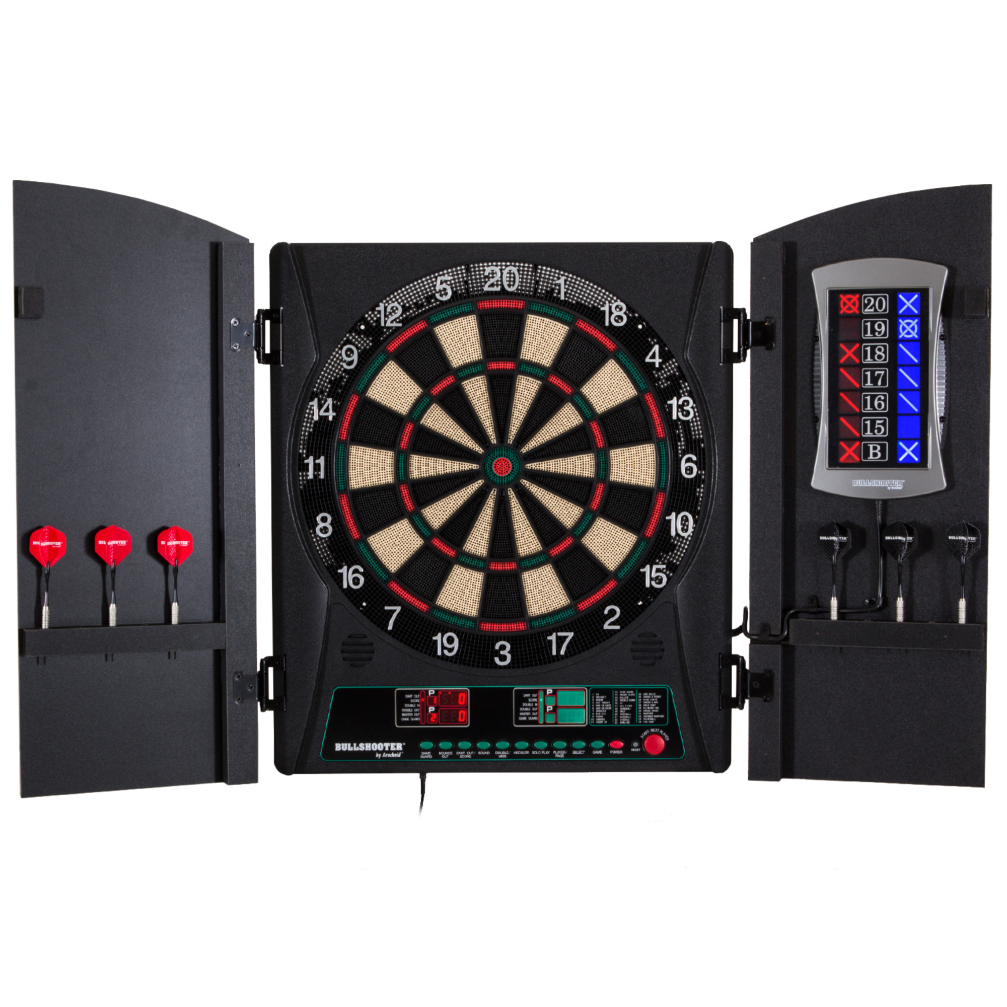 Bullshooter Cricket Maxx 1.0 Electronic Dartboard Cabinet Set