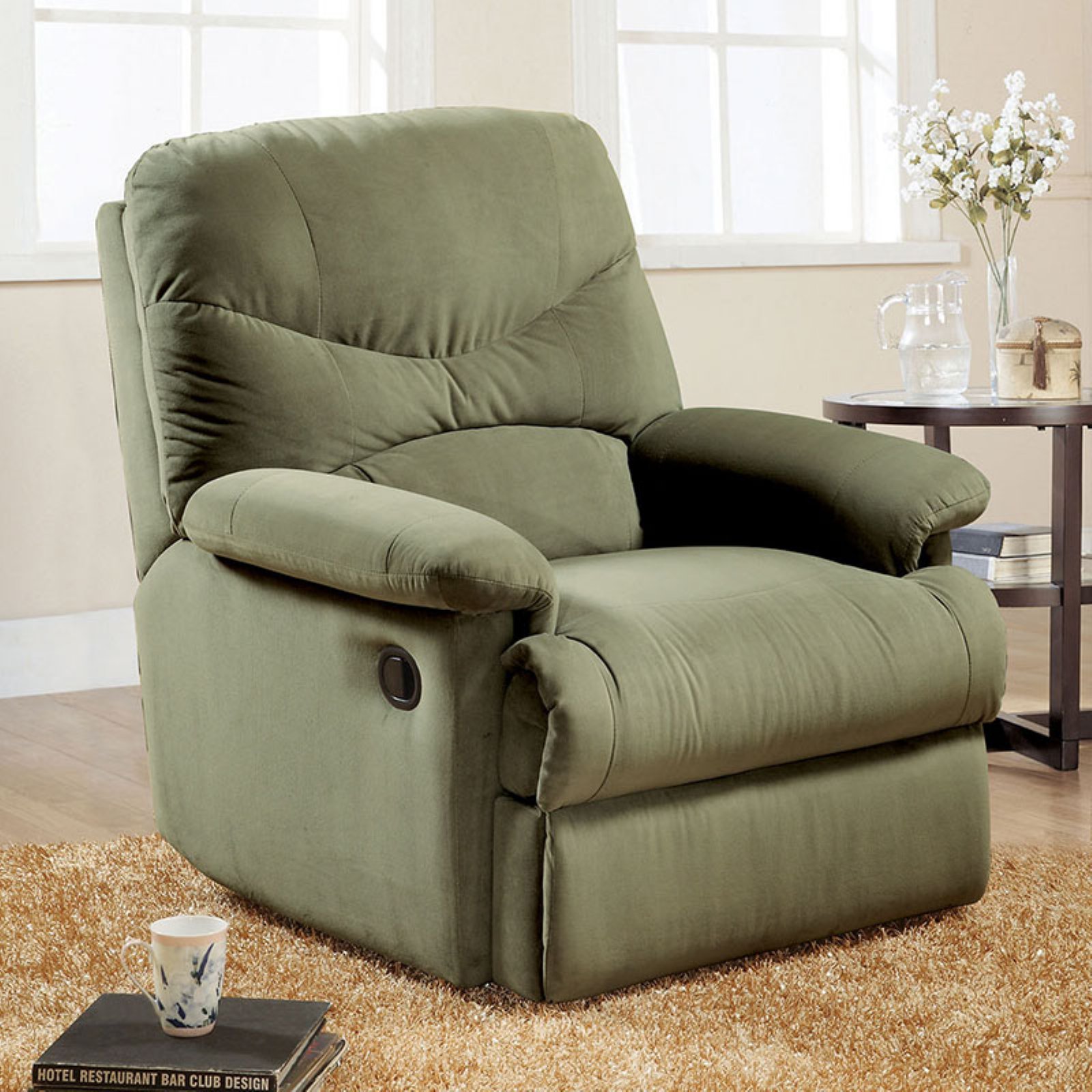 & Oakwood Microfiber Recliner Multiple Colors - Walmart.com islam-shia.org
