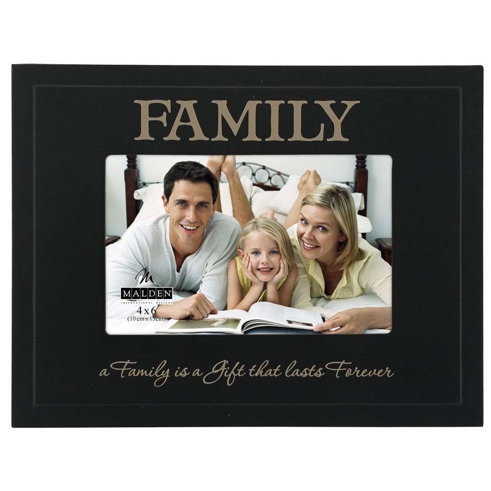 Malden Family Great Woods Black 4x6 Frame