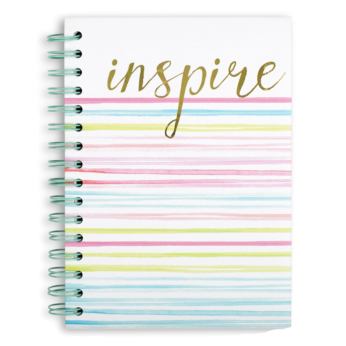 Inspire Color Striped Hardcover Spiral Notebook, Multi