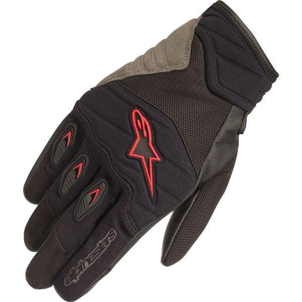 Alpinestars SHORE Leather//Textile//Mesh Riding Gloves Medium M Black//Red
