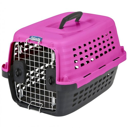 Petmate Compass Kennel - Hot Pink & Black