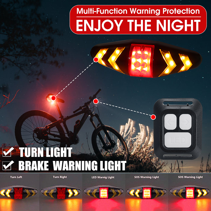 Led Cycling Bike Bicycle Running Safety Warning Lamp Back Light Rear Tail Hot lo