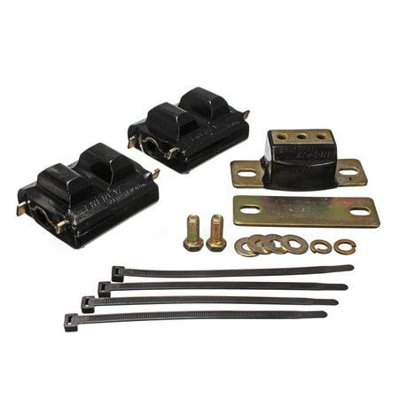 Lug Tom Suspension Mount (Energy Suspension 73-92 Chevrolet Camaro Black Motor and Transmision Mounts; Zinc Finish)