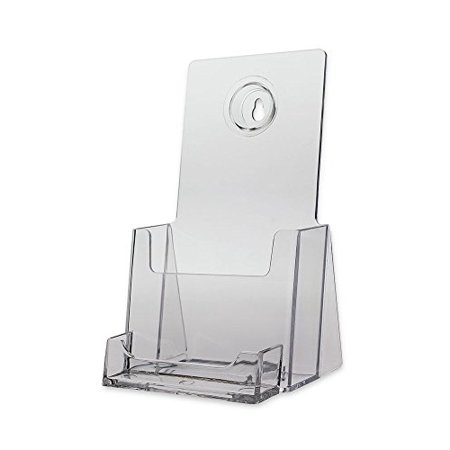 Source one 6 pack brochure holder with business card holder wall source one 6 pack brochure holder with business card holder wall mount or counter top reheart Choice Image