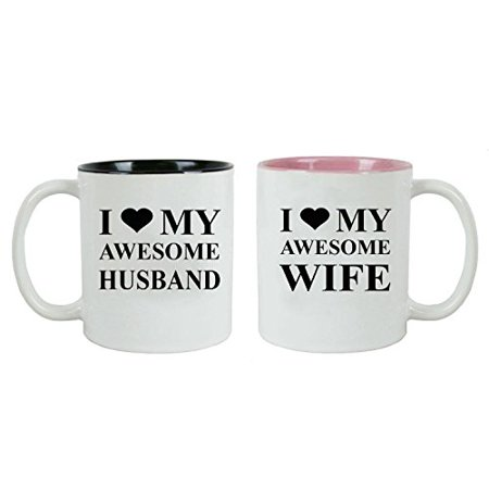 Valentines Set I For Mug Love Coffee DayChristmasAnniversaries My Awesome Ceramic Husbandwife Great Bundle kZXPiu