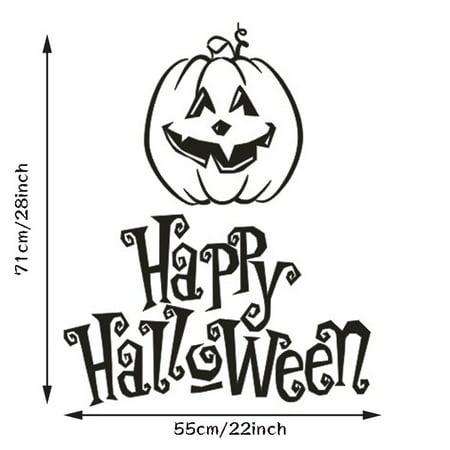 Happy Halloween Pumpkin Vinyl Wall Sticker Home Decor Decal Mural DIY Removable