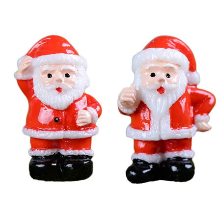 Holiday Clearance 2PCS Garden Miniature Resin Red Clothes Snowman Pots Craft Micro Landscape Mini DIY Decoration