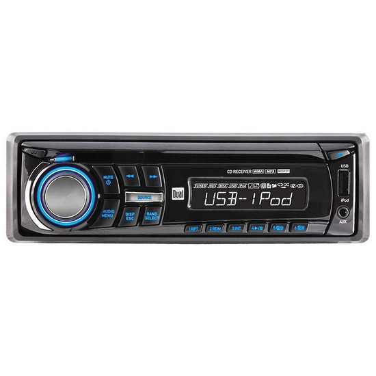 Dual XDMA350 In Dash AM/FM CD/MP3 Player Wireless Remote & USB Input