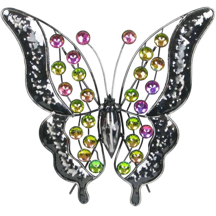 "Very Cool Stuff 13"" Rainbow Bling Butterfly"
