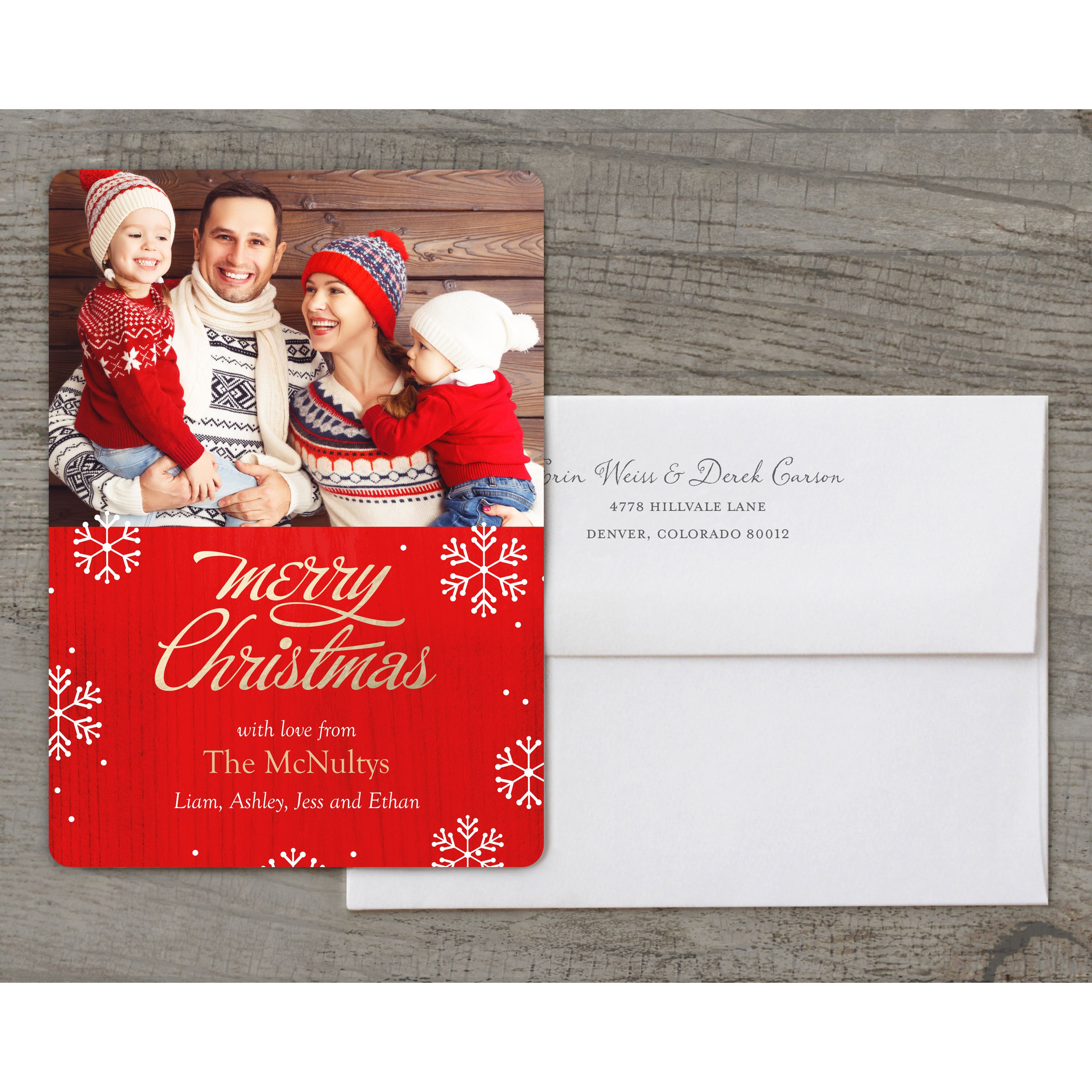 Brilliant Season - Deluxe 5x7 Personalized Holiday Christmas Card