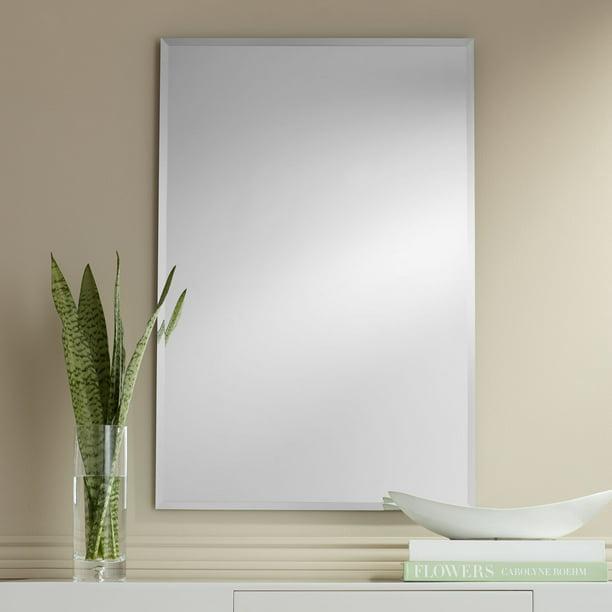 Noble Park Brix 24 X 36 Frameless, 24 X 36 Brushed Nickel Vanity Mirror