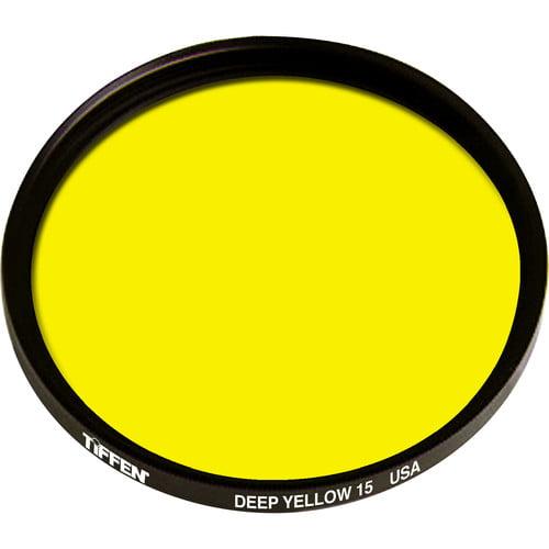 Tiffen 40.5mm Deep Yellow #15 Filter **AUTHORIZED TIFFEN USA DEALER**