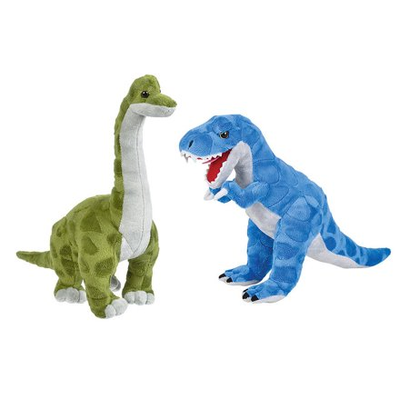 Plush T-Rex Stuffed Animal 16 Inch  and Brachiosaurus Dinosaur  Stuffed Animal Toy](Dinosaur Plush Toy)