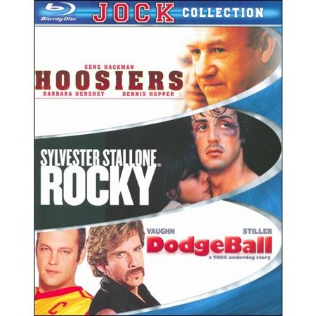 Jock Collection: Hoosiers / Dodgeball: A True Underdog Story (Unrated) / Rocky (Blu-ray) (Widescreen)