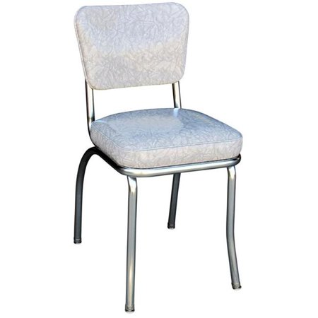 Richardson Seating Corp 4210CIG 4210 Diner Chair -Cracked Ice Grey- with 2 in. Box Seat -  Chrome - Cracked Ice - Richardson Diner Chair