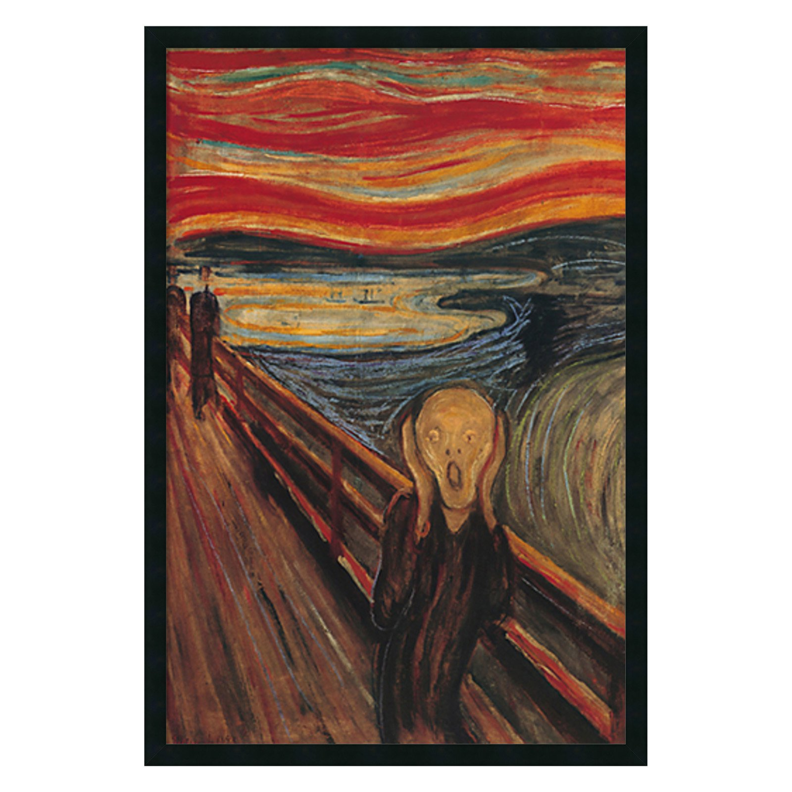 The Scream Framed Wall Art by Edvard Munch - 25.41W x 37.41H in.