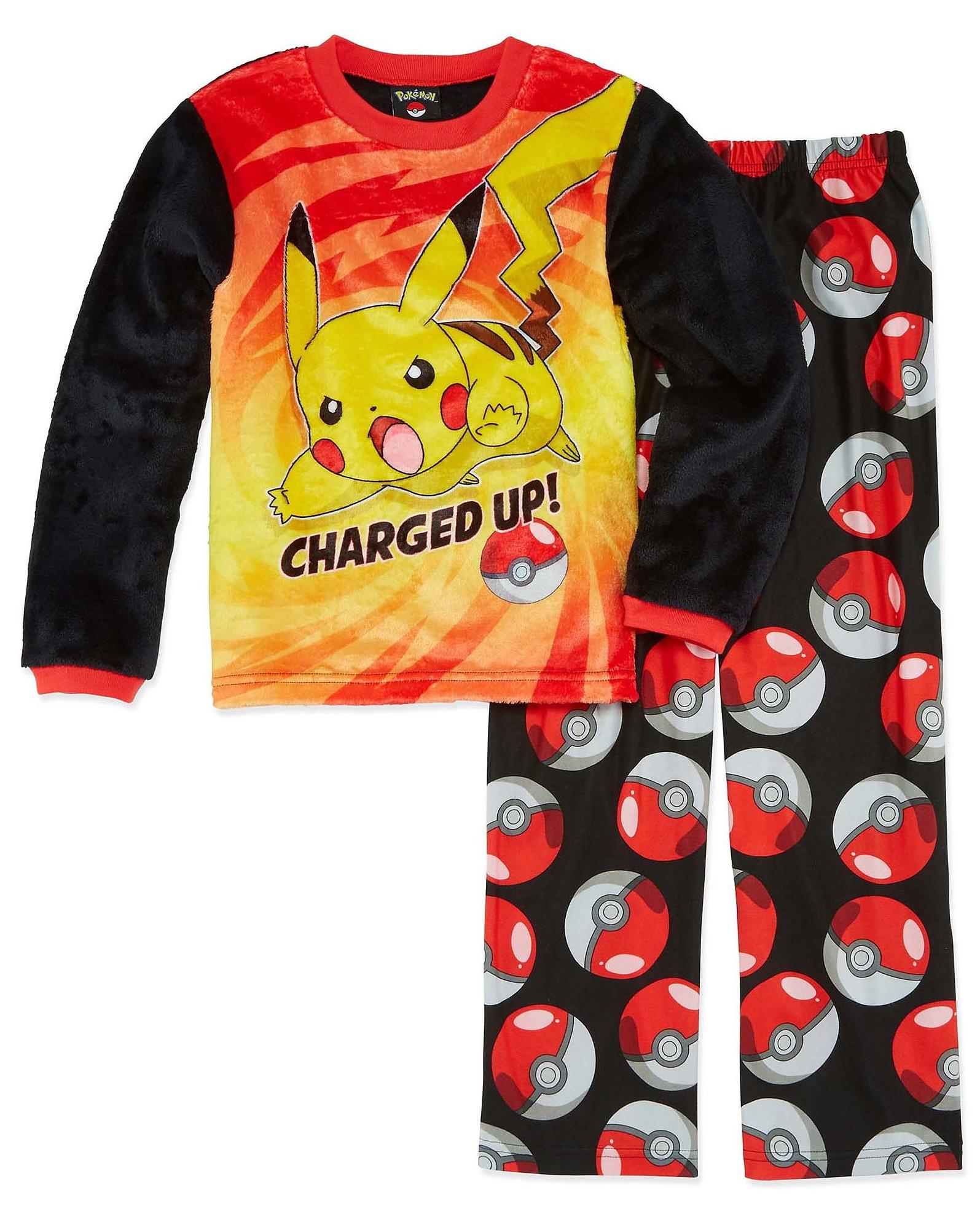Pokemon Boys' Catch 'Em All Luxe Plush 2-Piece Pajama Set