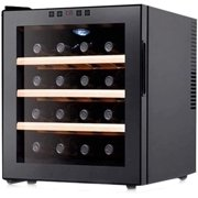 HSD 16 Bottle Red & White Wine Cooler/Chiller Counter Top Wine Cellar with Digital Temperature Display Freestanding Refrigerator