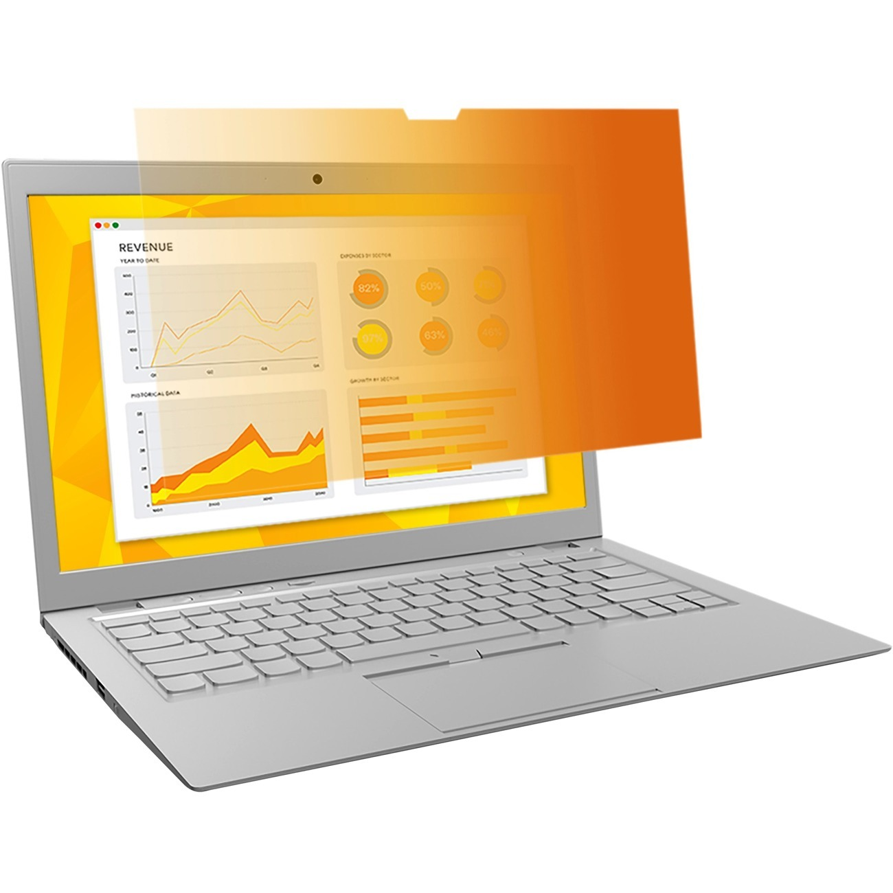 """3M, MMMGF141W1B, Gold Privacy Filter for 14.1"""" Widescreen Laptop (16:10) (GF141W1B), Gold,Glossy"""