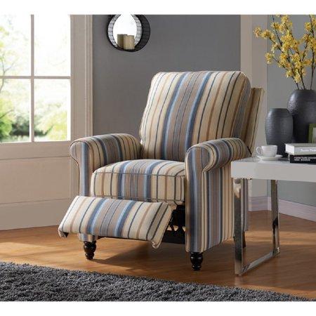 Push Back Recliner Chair Comfortable Spacious W Foam