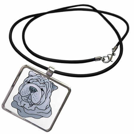 Shar Pei Jewelry (3dRose Cute and Cuddly Canine Shar Pei - Necklace with Pendant)