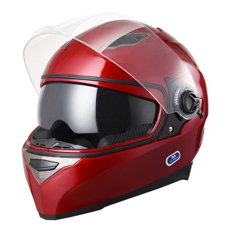 Yescom DOT Motorcycle Full Face Helmet Dual Visors Lightweight ABS Street Bike Motorbike Adult
