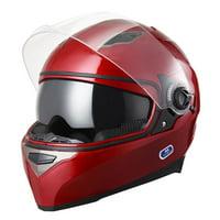 Yescom DOT Motorcycle Full Face Helmet Dual Visors Lightweight ABS Street Bike Motorbike Adult