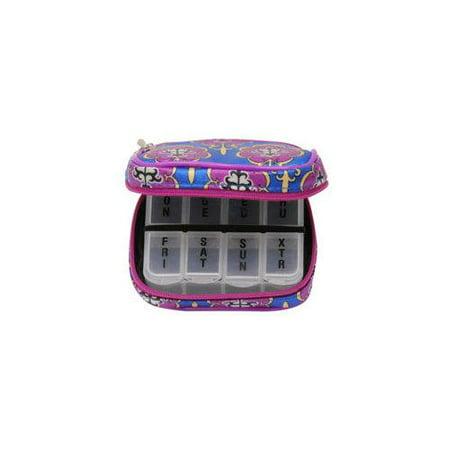 DM Merchandising PB7ROY Women's 7-Day Pill Box Clutch Duchess Royale
