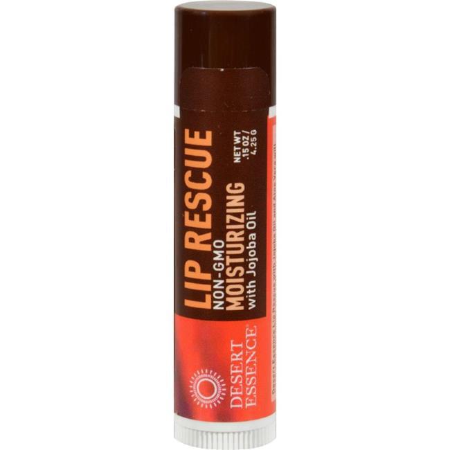 Desert Essence HG0560128 0.15 oz Lip Rescue Display Case - Jojoba & Aloe, Case of 24