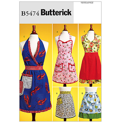 Butterick Pattern Aprons, All Sizes