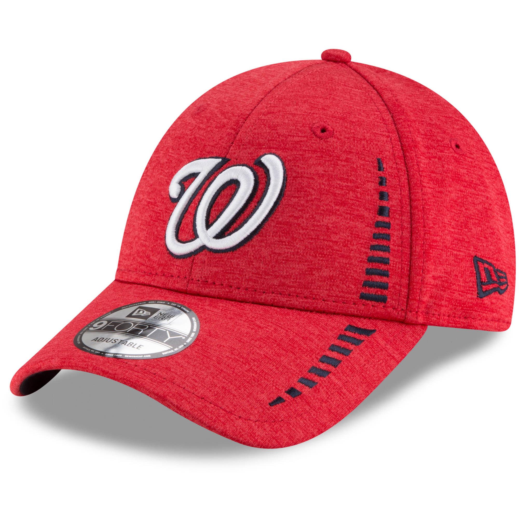Washington Nationals New Era Speed Shadow Tech 9FORTY Adjustable Hat - Red - OSFA