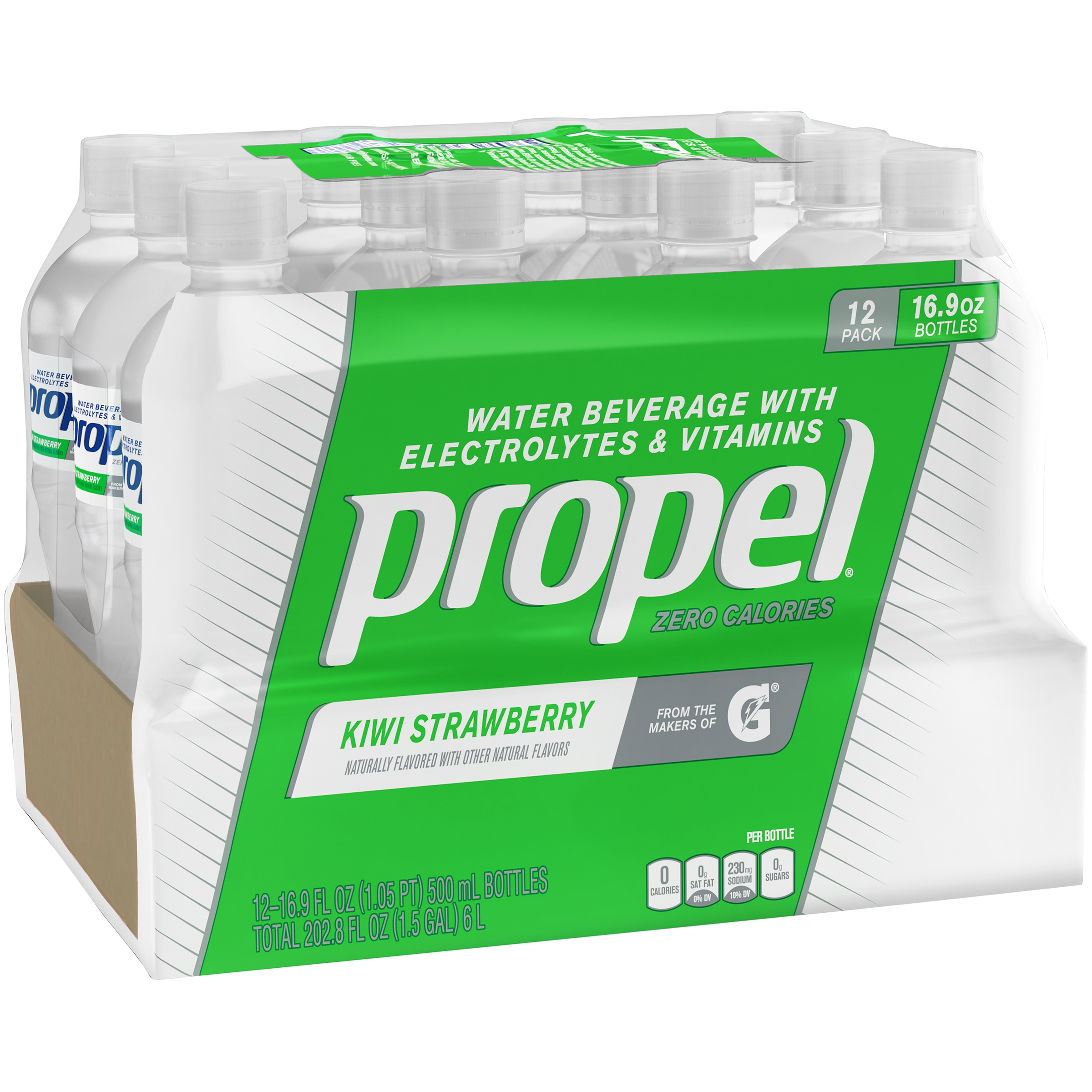 Propel Water, Kiwi, 16.9 Fl Oz, 12 Count