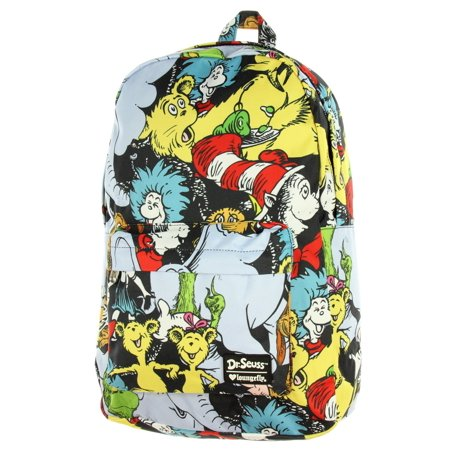 4924c19e482a Loungefly X Dr. Seuss Characters AOP Backpack