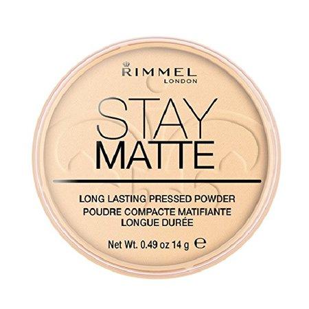 Rimmel London Stay Matte Long Lasting Pressed Powder, Transparent [001]  0 49 oz